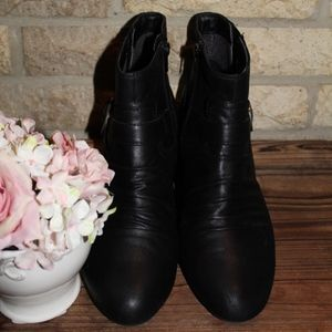 Kim Rogers Black Ankle Boots
